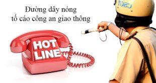 Số điện thoại đường dây nóng tố cáo công an giao thông