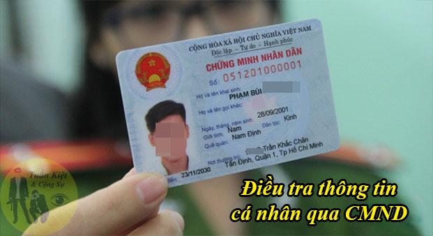 Dịch vụ tra cứu thông tin cá nhân từ CMND, thẻ căn cước công dân