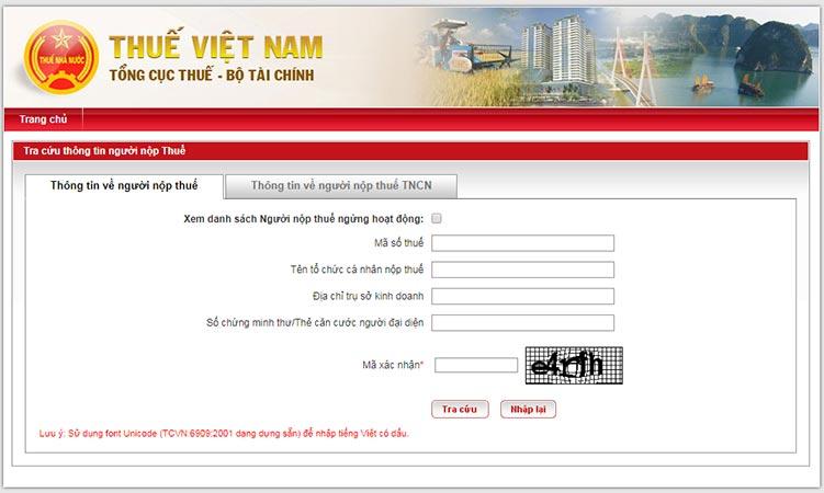 Phần mềm kiểm tra số chứng minh thư, thẻ căn cước qua tổng cục thuế Việt Nam