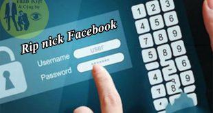 Dịch vụ rip nick Facebook vĩnh viễn giá rẻ, uy tín, nhanh nhất